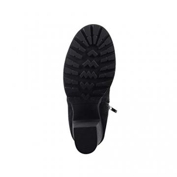 Elara Damen Stiefel Overknee High Heels Absatz Chunkyrayan E4835 Black-38 - 2