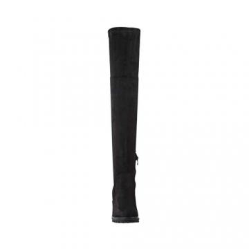 Elara Damen Stiefel Overknee High Heels Absatz Chunkyrayan E4835 Black-38 - 4