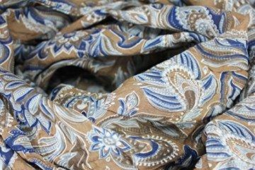 FERETI Braun blau casmir print wertvolles luxus seidenschal - 5