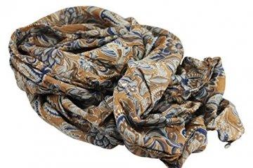 FERETI Braun blau casmir print wertvolles luxus seidenschal - 6