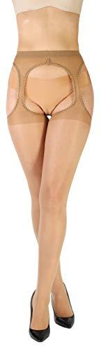 Giulia Love 20 Den Daino S erotische sexy Strumpfhose mit offenem Schritt Intim Bereich offen cutout hautfarbe - 1