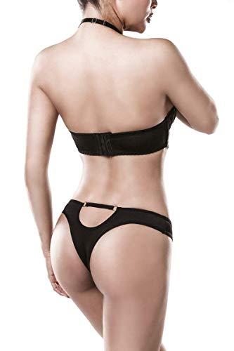 Grey Velvet 2-teiliges Neckholder-BH-Set Frauen Wäsche-Set schwarz XL 100% Polyamid Basics, Dessous - 5