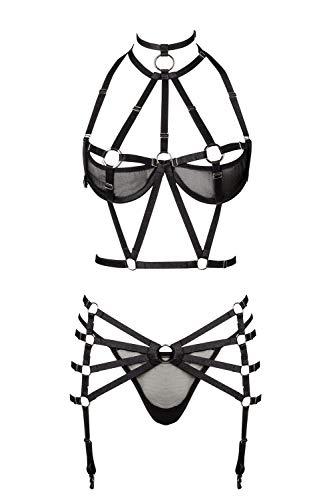 Grey Velvet Damen Harness-Dessous-Set XL/XXL - 2