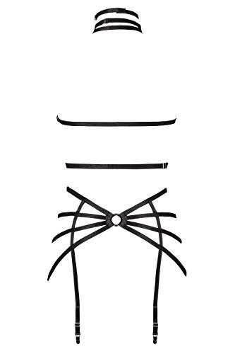 Grey Velvet Damen Harness-Dessous-Set XL/XXL - 3