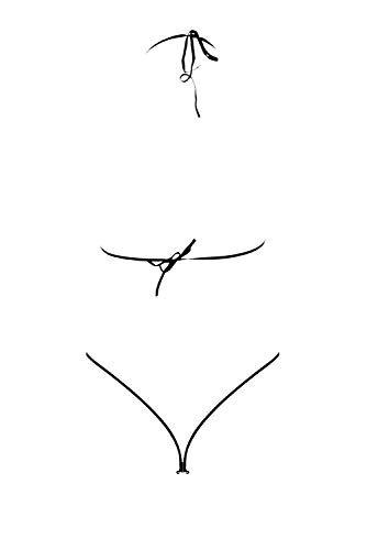 Grey Velvet - exklusives BH-Set Spitze inkl. String - schwarz Gelenkbändern und Maske XS-L - 7