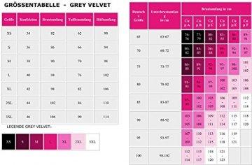 Grey Velvet - exklusives BH-Set Spitze inkl. String - schwarz Gelenkbändern und Maske XS-L - 9