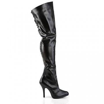 Higher-Heels Pink Label Overknee Stiefel Eve-312 Mattschwarz Gr. 47 - 5