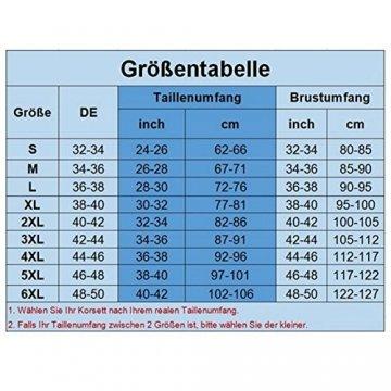 KUOSE Damen Vollbrust Lackleder Korsett Corsagentop Bustier Korsage Shirt Schwarz EUR(38-40)XL - 4