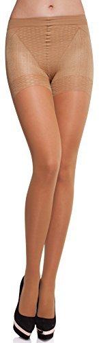 Merry Style Damen figurformende Strumpfhose MS 128 40 DEN (Neutro, L (40-44)) - 1