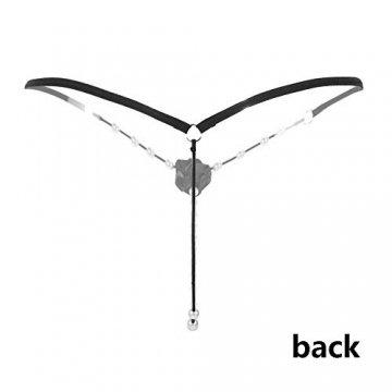 MOOKLIN 6 Packs Damen Tanga Strings Unterwäsche G-String Thongs V-String Höschen (6 Muster) - 3