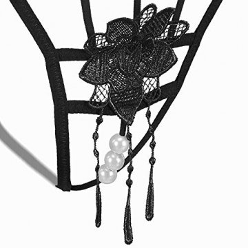 MOOKLIN 6 Packs Damen Tanga Strings Unterwäsche G-String Thongs V-String Höschen (6 Muster) - 4