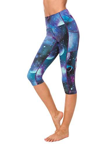Munvot Sporthose Damen Leggings Taschen Mehrfarbig Nylon Strumpfhose Fitness Yoga Running Workout Gr. XX-Large, Mehrfarbig - 81 - 1