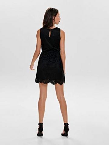ONLY Damen Kleid ohne Ärmel Spitzen SBlack - 4
