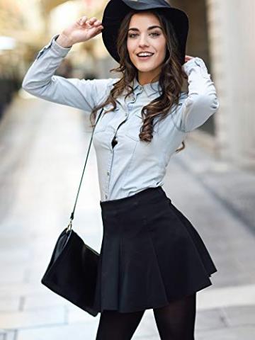 SATINIOR Extra Lange Socken Oberschenkelhohe Baumwollsocken Extra lange Stiefelstrümpfe für Mädchen Frauen (Black, Dark Grey, Wine Red, 3) - 3