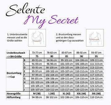 Selente My Secret 1874 attraktive Bademode (Bikini/Badeanzug) in großen Größen (C-Cup bis H-Cup) mit vorteilhaftem Schnitt, Bikini Blau/Weiß gepunktet, Gr. 85G - 4