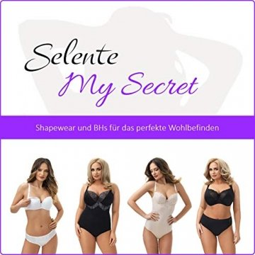 Selente My Secret Damen Shaping-Unterhemd, figurformend, nahtlos, mit speziellen Modellierungszonen, weiß, Größe XL - 2