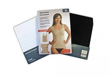 Selente My Secret Damen Shaping-Unterhemd, figurformend, nahtlos, mit speziellen Modellierungszonen, weiß, Größe XL - 3