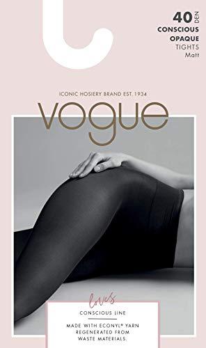 Vogue Conscious Opaque Öko Nylonstrumpfhose 40 Den schwarz für Damen, 1 Paar - 3