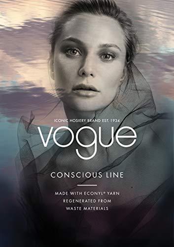 Vogue Conscious Opaque Öko Nylonstrumpfhose 40 Den schwarz für Damen, 1 Paar - 4