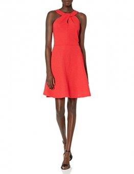 Armani Exchange AX Damen Cross Collar A-Line Party Dress Legeres Abendkleid, Lollipop, X-Groß - 1