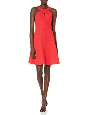 Armani Exchange AX Damen Cross Collar A-Line Party Dress Legeres Abendkleid, Lollipop, X-Groß - 1