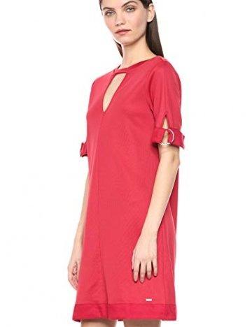 Armani Exchange AX Damen Cut-Out Shift Dress Legeres Abendkleid, Rote Schuhe, Mittel - 2