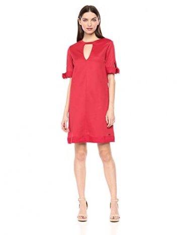 Armani Exchange AX Damen Cut-Out Shift Dress Legeres Abendkleid, Rote Schuhe, Mittel - 1