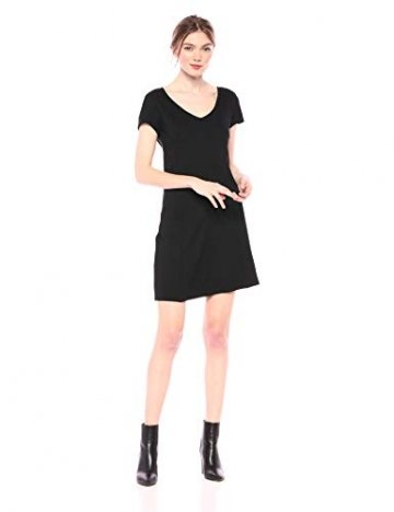 Armani Exchange AX Damen Short Sleeve Dress Kleid, schwarz, Klein - 1