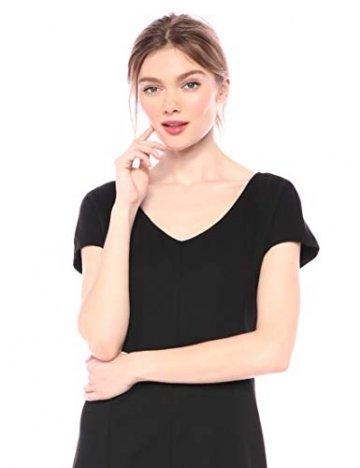 Armani Exchange AX Damen Short Sleeve Dress Kleid, schwarz, Klein - 3