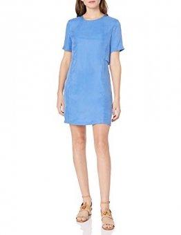 Armani Exchange A|X Damenkleid, kurzärmelig, doppellagig - Blau - 34 - 1