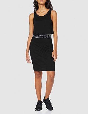 Armani Exchange Damen Logo Belt Tank Dress Kleid, Schwarz (Black 1200), Large (Herstellergröße:L) - 3