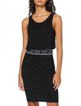 Armani Exchange Damen Logo Belt Tank Dress Kleid, Schwarz (Black 1200), Large (Herstellergröße:L) - 1