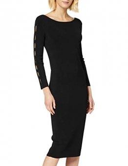 Armani Exchange Damen Sleeve Cut Detail Kleid, Schwarz (Black 1200), Large (Herstellergröße:L) - 1