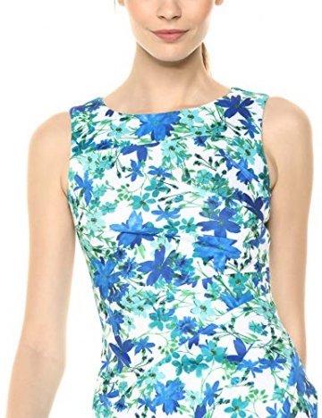 Calvin Klein Damen Round Neck Sleeveless Sheath with Starburst Detail Kleid, Atlantis Multi, 38 - 2