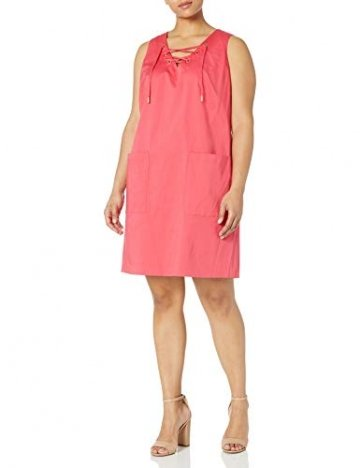 Calvin Klein Damen Übergröße Ärmelloses Shift Kleid - Pink - 14W - 1