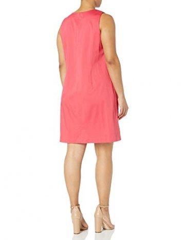 Calvin Klein Damen Übergröße Ärmelloses Shift Kleid - Pink - 14W - 2