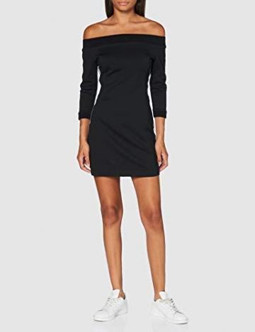 Calvin Klein Jeans Damen Off The Shoulder Milano Dress Kleid, Schwarz, M - 2