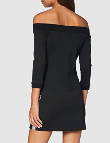 Calvin Klein Jeans Damen Off The Shoulder Milano Dress Kleid, Schwarz, M - 3