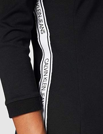 Calvin Klein Jeans Damen Off The Shoulder Milano Dress Kleid, Schwarz, M - 4
