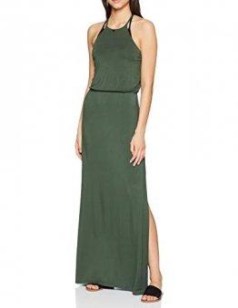 Emporio Armani Damen langes Kleid Strandkleid, Grün (Verde Militare 00084), 36 (Herstellergröße: S) - 1
