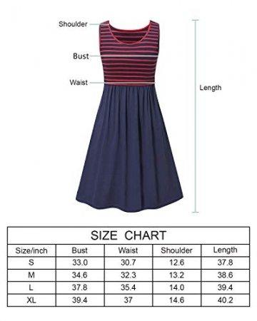Love2Mi Damen Umstandskleid Streifen Stillkleid Ärmellos Schwangere Sommerkleid-Weißer Streifen / Weinrot-XL - 3