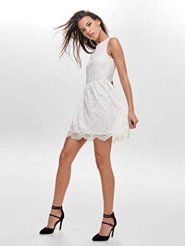 ONLY Damen Kleid ohne Ärmel Spitzen MCloud Dancer - 4