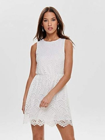 ONLY Damen Kleid ohne Ärmel Spitzen MCloud Dancer - 5