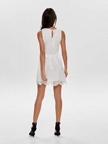 ONLY Damen Kleid ohne Ärmel Spitzen MCloud Dancer - 7
