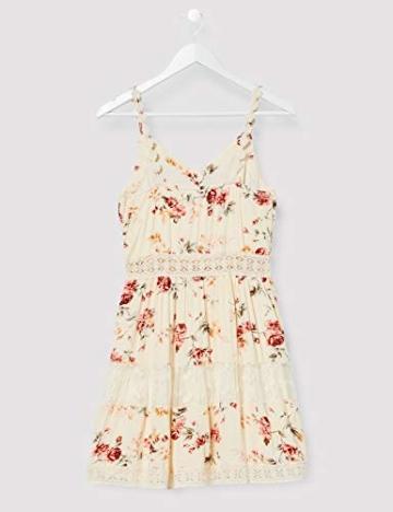 ONLY Damen ONLKARMEN Anne S/L Short Dress WVN NOOS Kleid, AOP:Rose Flower Creme Brûlée, 40 - 2