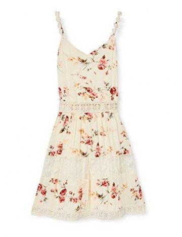ONLY Damen ONLKARMEN Anne S/L Short Dress WVN NOOS Kleid, AOP:Rose Flower Creme Brûlée, 40 - 1