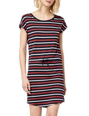 ONLY Damen Onlmay S/S Dress Noos Kleid, Mehrfarbig (Night Sky Stripes: Multi Flame Scarlet/Cl. Dancer), 42(Herstellergröße:XL) - 1