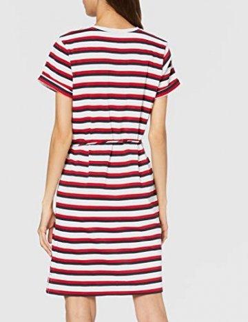Tommy Hilfiger Damen Angela Regular Stpc-nk Dress Ss Kleid, Weiß (Knits Multi STP/White 0Fg), 32 (Herstellergröße: X-Small) - 3