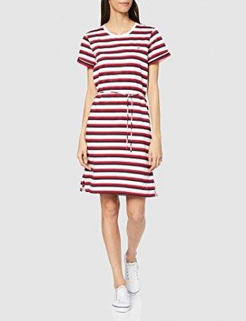 Tommy Hilfiger Damen Angela Regular Stpc-nk Dress Ss Kleid, Weiß (Knits Multi STP/White 0Fg), 32 (Herstellergröße: X-Small) - 6