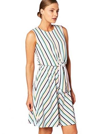 Tommy Hilfiger Damen Barbara Knot Dress NS Kleid, Weiß (Colorful Banker STP/Classic White 122), X-Small (Herstellergröße: 4) - 2